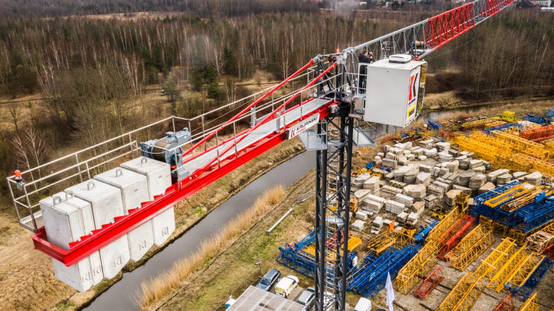 Premiera pierwszego polskiego żurawia wieżowego KR 90-5 firmy Krupinski Cranes Sp. z o.o.